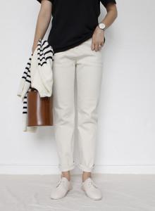 여자 일자 면팬츠 (2color)