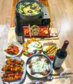 홈파티5인세트( 구성:밀푀유나베,등갈비치즈,미트볼꼬치구이,새우감자말이샐러드/파티음식,생일음식,집들이음식 전국배달,17년 전통, 간단한 집들이음식,신혼집들이,반조리식품,스피드가정식