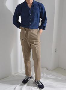오픈카라 데님셔츠 [더블리].BK