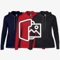 [프린팅] 여성용 얇은 고급 후드 티셔츠 - USA fit (887L)