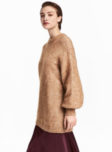 H&M 니트 스웨터 카멜