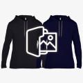 [프린팅] 얇은 고급 후드 티셔츠 - USA fit (987)