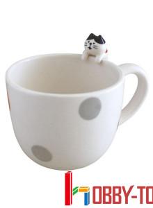 일본캐릭터 간식을 노리는 고양이 머그컵/머그잔
