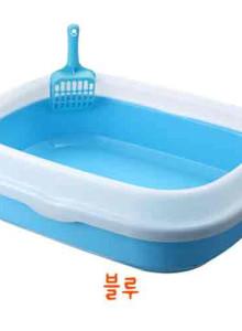 HT 심플스퀘어 고양이화장실 블루