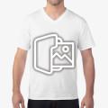 [프린팅] 반팔 브이넥 티셔츠 - Asia fit (63v00)