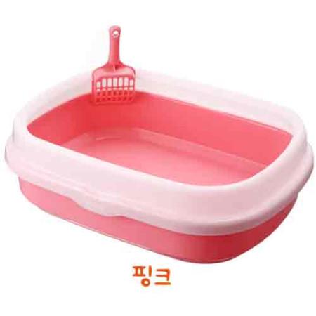 [HT] 심플스퀘어 고양이화장실 (핑크)