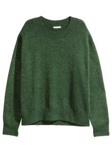 H&M 파인 니트 스웨터 그린