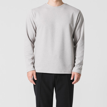베이직 라운드 니트 티셔츠 4color