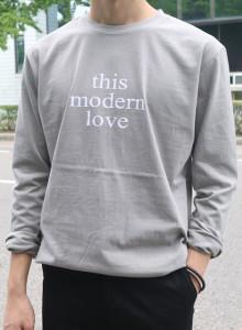 LOVE 오버 긴팔 티셔츠