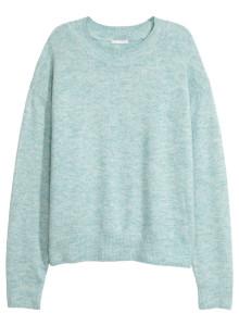 H&M 파인 니트 스웨터 라이트 블루