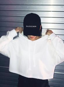 여자 크롭 후드 맨투맨 티셔츠 4color