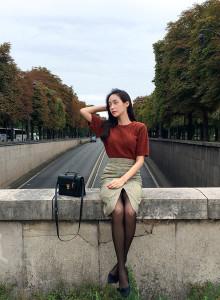 [임블리]파리분위기여신 반팔니트