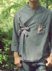 남자 청 셔츠저고리 - 남성생활한복저고리