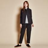 Standing collar jacket_black