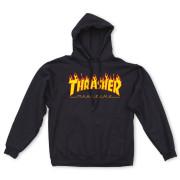 [재입고완료] 트래셔 불꽃 후드티셔츠 블랙 (THRASHER FLAME LOGO HOODIE BLACK)