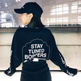캐치미 여자 레터링 긴팔티셔츠 2color