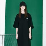Oversize Slit Long Dress BK
