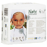 Naty 네티(네띠) 친환경 오가닉 기저귀 4단계 4pack(108ea) 7~18Kg 아기용