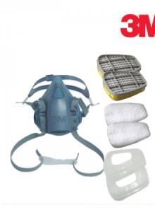 3M 마스크 7502 풀세트 7502+6003+5N11+5013m3m마스크 방독마스크 방진마스크 7502 방독면 일반방독면 호흡보호구