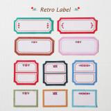 [젠틀웨이브] 데코스티커 레트로 네임 라벨 이름스티커 네임스티커 / Deco Sticker-Retro Label