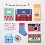 [젠틀웨이브] 데코스티커 레트로 미니어처 꾸미기 포인트 스티커 / DECO STICKER-Retro Miniature