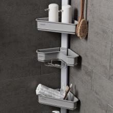 맥맨 멀티 시스템 욕실 선반 코너형 (벽선반 코너 욕실수납)