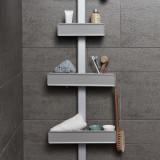 맥맨 멀티 시스템 욕실 선반 평면형 (벽선반 코너 욕실수납)