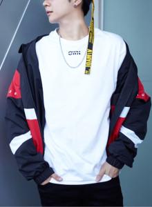 캐치미 남자 레터링 긴팔티셔츠 2color