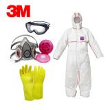 3M 보호복 석면세트 B형 (반면형마스크)