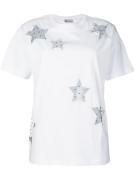 (라오니아) Red 발렌티노 Stelle 티셔츠 NR3MG06R35D (관부가세포함)