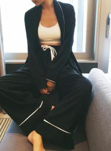 슬립가운 파자마 잠옷 홈웨어 세트