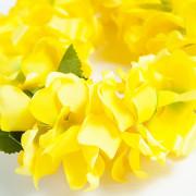 옐로우 레이 Lei 하와이 꽃목걸이 훌라용품 /우쿨렐레 악세사리 훌라댄스