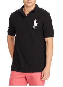랄프로렌 폴로 티셔츠 클래식 핏 메쉬 - POLO BLACK
