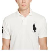 랄프로렌 폴로 티셔츠 클래식 핏 메쉬 - WHITE