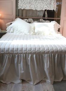[워싱광목 프릴y] 침대커버
