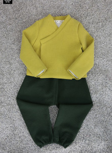 겨울 남아누빔생활한복 (겨울 누빔원단/이중지원단) 저고리+바지세트 색상다양