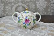 (예카 로모노소프) 골든 그래스 설탕기 원형 로모노소프 임페리얼 포세린 예쁜그릇