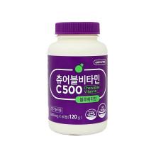 그린스토어 츄어블 비타민C500 블루베리맛 씹어먹는 비타민C 60정