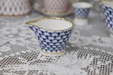 (예카공구) 10. 블루 뾰족이 유스 코발트넷 크리머 (작은형) 로모노소프 임페리얼 포세린 예쁜그릇