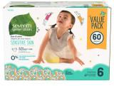 미국기저귀 세븐스제너레이션 아기 기저귀 사이즈 6 (60ea) 몸무게 15Kg이상