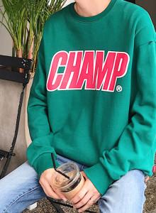 챔프 맨투맨 / champ mtm (2color)