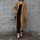 핸드메이드 벨트 코트 (3color)