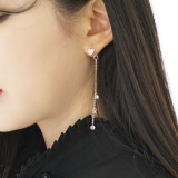 [온유어 귀걸이]하트와 마지막잎새 (티타늄)