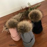 아기 겨울 모자 유아 라쿤 비니