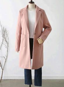[무료배송] 파스텔 일자핏 여성 겨울코트
