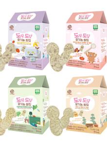 우리애들밥상 도담도담 유기농 쌀칩 4종 세트