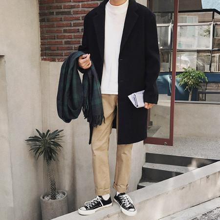 베이직 싱글코트 / basic single coat (3color)