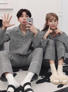 ♥모던체크 커플 파자마/잠옷♥