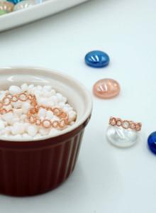 데일리 써클링 (925 silver, 화이트 , 핑크_ 편안한 데일리 반지)