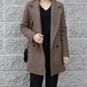 울 90 하프 코트 여성 울코트 (3color)